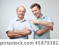 father, son, portrait 45879382