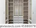 Modern closet in the hotel for different needs and clothes. 45880078