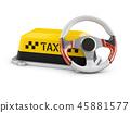 3drendering taxi car 45881577