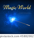 Magic wand mystery vector background 45882062
