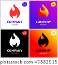 fire flames, new colored set on gradient 45882915