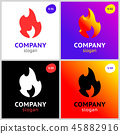 fire flames, new colored set on gradient 45882916