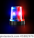 Emergency flashing police siren vector illustration 45882976