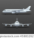 Realistic 3d detail airplane, commercial jet isolated vector illustration 45883262