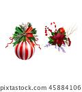 christmas, decoration, ribbon 45884106