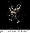 champagne, splash, glass 45884461
