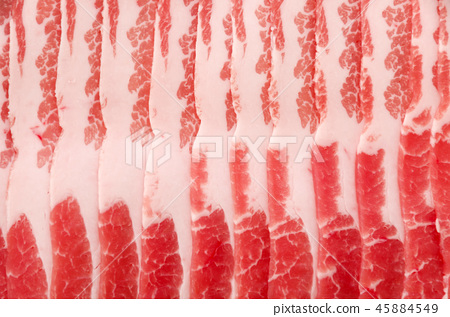 Pork rose meat sliced up 45884549