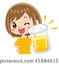 喝啤酒干杯! 45884615