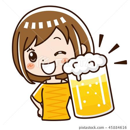 喝啤酒干杯! 45884616