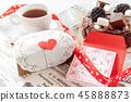 발렌타인 데이 발렌타인 초콜릿 메시지 카드 45888873