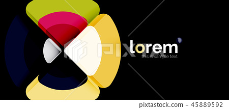 Circle abstract background 45889592