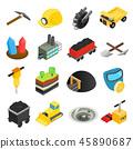 mining isometric icon 45890687