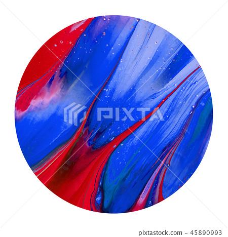 Colorful blue, red ink brush shinny design element 45890993