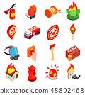 firefighter isometric 3d 45892468