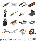 Ninja isometric 3d icon 45892481