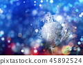 Christmas decorations bokeh background 45892524