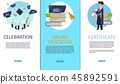 banner, certificate, college 45892591