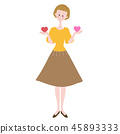 婦女心臟紅色比較華倫泰 45893333