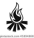 bonfire, flame, vector 45894868