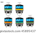 Illustration material: Suburban type vehicle Yamanote Line, Chuo Line, Sobu Line, etc. · E231 series | Illustration / icon of train | 45895437