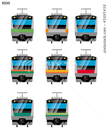 Illustration material: Suburban type vehicle Yamanote Line, Chuo Line, Sobu Line others, E233 series | 45895438