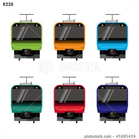Illustration material: Suburban model latest vehicle Yamanote Line, Chuo Line, Sobu Line others, E235 series | Illustration, icon of train | 45895439