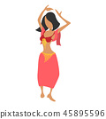 Cute cartoon belly dancer  45895596