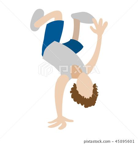 Hip hop break dancer icon 45895601
