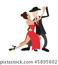 couple, dancing, tango 45895602