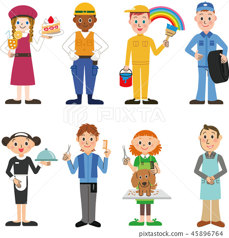 People of various occupations 45896764
