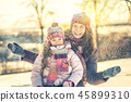 winter, mother, daughter 45899310