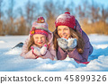 winter, mother, daughter 45899326