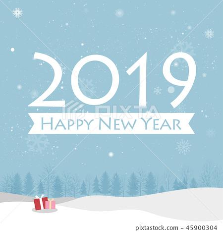 Happy New Year 2019 Card 45900304