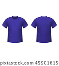 Realistic purple t-shirt  45901615