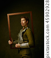 Portrait, man, frame 45902928