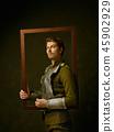 Portrait, man, frame 45902929