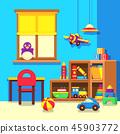 Preschool kindergarten classroom with toys cartoon vector illustration 45903772