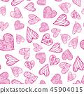 heart, vector, seamless 45904015