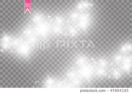 Vector white glitter wave abstract illustration. 45904185
