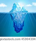 Iceberg realistic concept 45904394