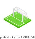 Soccer goal isometric 3d icon  45904658