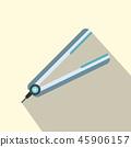 hair flat icon 45906157