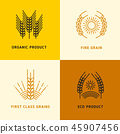Harvesting vector logos with wheat grains 45907456