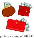 벡터, 지갑, 돈 45907781