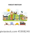Great britain and london vector traveling concept 45908246