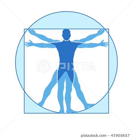 human body vector icon similar vitruvian man stock illustration 45908687 pixta pixta