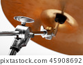 close-up of musical instrument cymbals. musical instrument 45908692