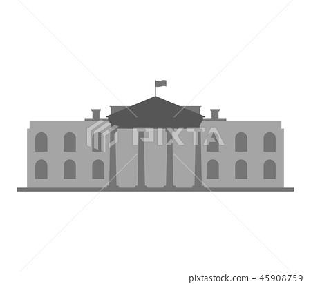 white house icon 45908759