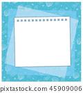 여름의 프레임 메모장 조개 바다 블루 45909006