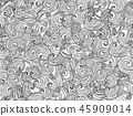 Vector  waved seamless pattern. 45909014